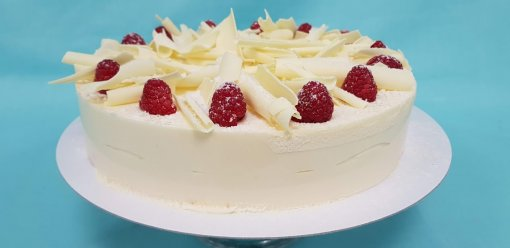 White Chocolate Raspberry and Coconut Truffle Torte