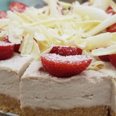 Chilled Strawberry, White Chocolate & Bailey's Cheesecake